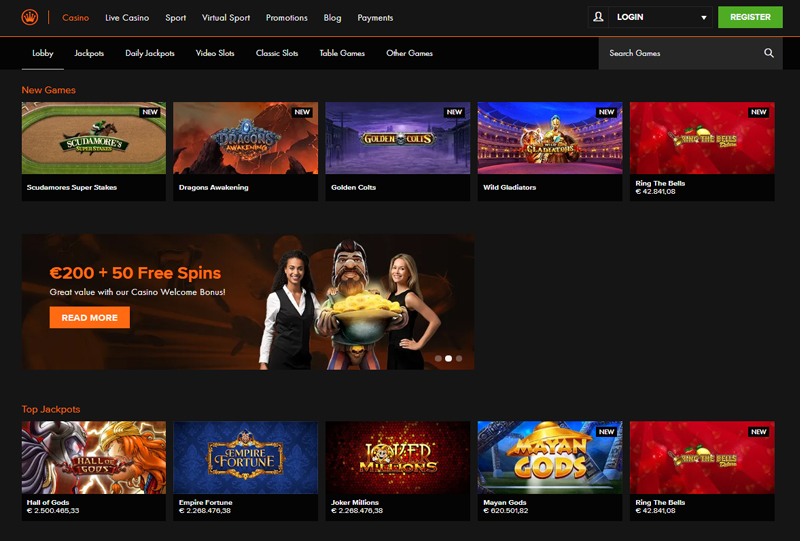 Homepage Kroon Casino